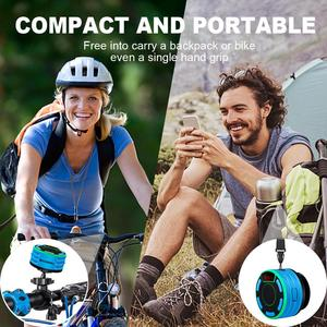 Image 5 - BassPal F013 Pro TWS Bluetooth Speakers IPX7 Waterproof Portable Wireless Shower Speaker with LED Display FM Radio Suction Cup