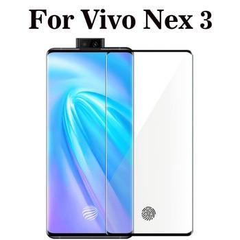 Перейти на Алиэкспресс и купить Изогнутое полное покрытие, закаленное стекло для Vivo Nex 3, Защитное стекло для экрана Vivo NEX 3 5G, пленка 6,89 дюйма
