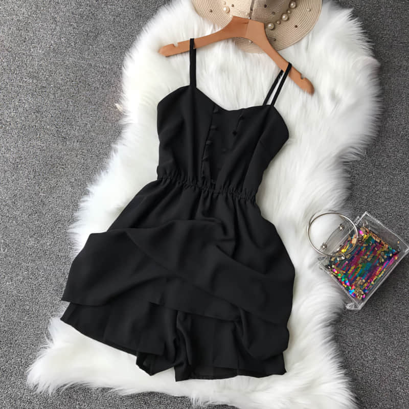 H699304043e194f9e90a25926d0b2dde6T - Candy Color Elegant Jumpsuit Women Summer Latest Style Double Ruffles Slash Neck Rompers Womens Jumpsuit Short Playsuit