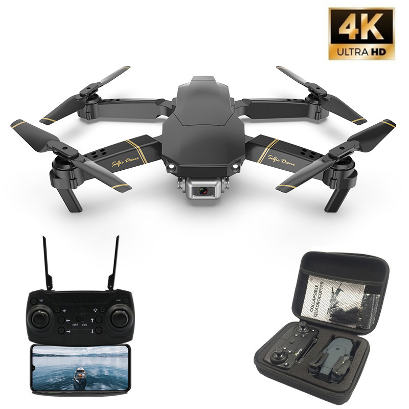 M65 RC Drone con HD 4K Cámara FPV WIFI función de retención de altitud Selife Dron plegable Quadcopter del E58 SG106 M69 Drones