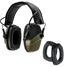 Tactical electronic shooting hunting earmuffs noise reduction Sound amplification headphones + a pair Sightlines Ear Pads 1436 foldable noise noise reduction ear protection earmuffs sleep study mute the headphones sound industrial plants