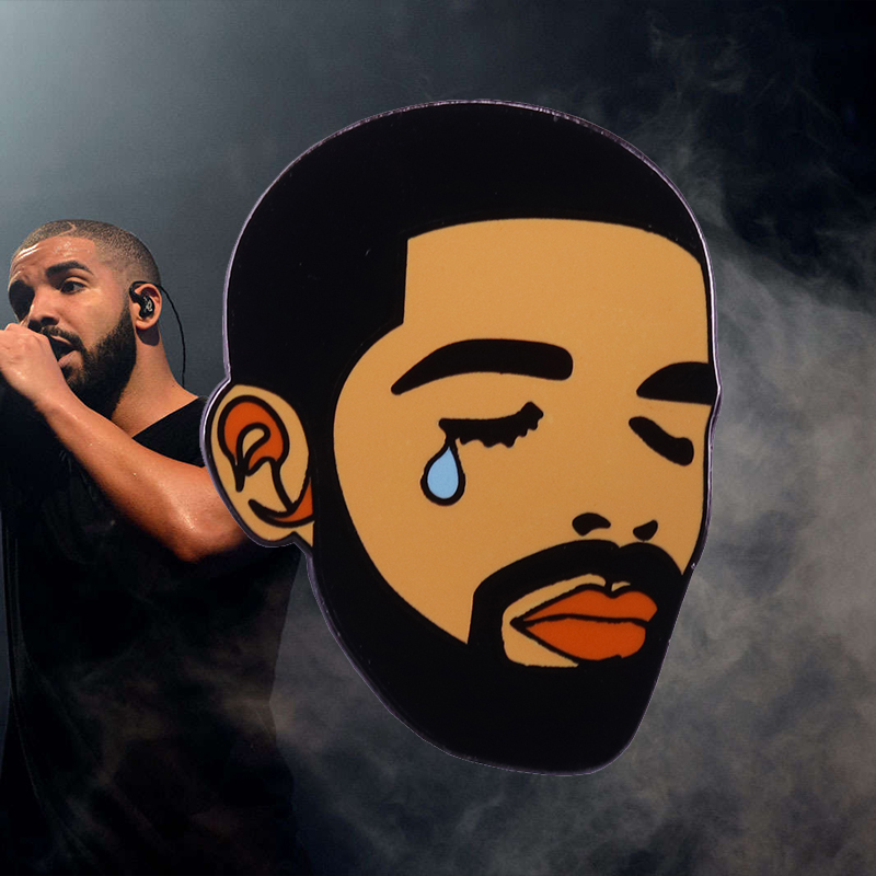 Drake tears enamel pin Laugh Now Cry Later Hip Hop Rap music art badge Canadian rapper, singer, songwriter, actor, entrepreneur