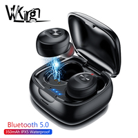 VVKing TWS Bluetooth 5.0 Earphone Stereo Wireless Earbus HIFI Sound Sport Earphones Handsfree Gaming Headset with Mic for Phone