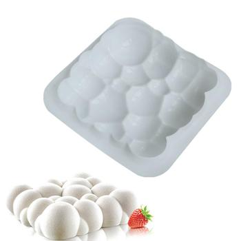 3D Irregular Cloud Design Silicone Cake Mold Jelly Pudding Chocolate Cookie Muffin Soap Mould DIY Moule Baking Tools silicone pudding mold cake pastry baking round jelly gummy soap mini muffin mousse cake decoration tools bread biscuit mould