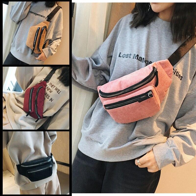 KM 2019 Multifunctional Waist Bag Women Outdoor Fashion Leisure Bag Unisex Fanny Pack Ladies Waist Pack Belly Bags Purse