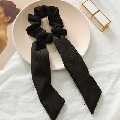 Модный летний шарф «конский хвост», эластичная лента для волос для женщин, бантики для волос, резинки для волос, резинки для волос с цветочным принтом, ленты для волос - Цвет: 02