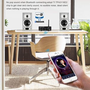 Image 3 - Fosi Audio Bluetooth 4.2 Power Sound Amplifiers Subwoofer Amplifier Surround 50Wx2 Amplificador Audio Amp Home Theater