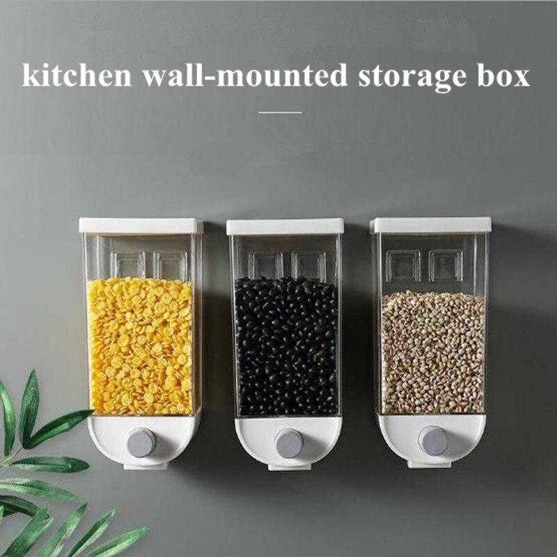 1500 мл ящик для хранения еды кухонный настенный бак для хранения пластиковый контейнер для хранения пищевых продуктов герметичный контейне...