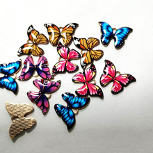 10pcs Butterfly Gold Metal Enamel Charms For Earring Fashion DIY Jewelry Making Charm And Pendants For Bracelet Dangle Assorted 5pcs alloy enamel heels hat coat charms with artificial pearl gold tone charm for women earring bracelet jewelry diy accessory