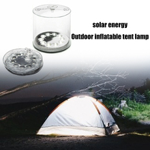 Camping Solar Powered Foldable Inflatable Rechargeable Portable LED Light Waterproof Flashlight Hiking Hunting Lanter for Campin