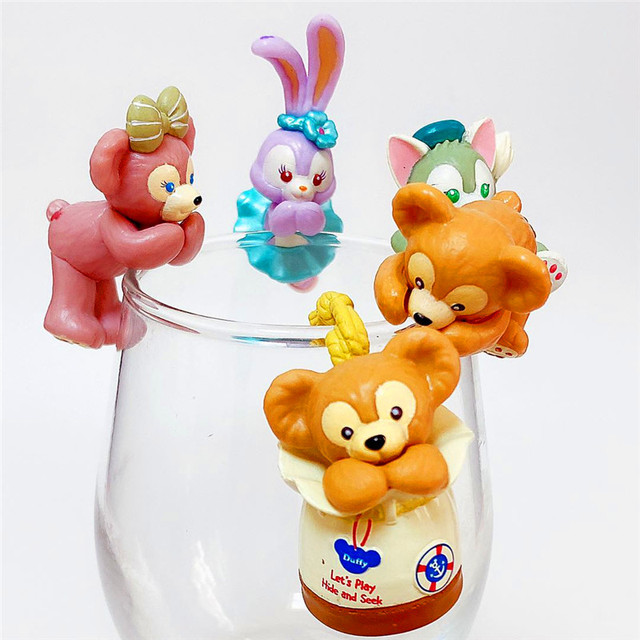 10set PVC Duffy Bear for cup Kawaii In Pajamas Action Figure Dolls Toy Collection Figure Toy Gift Wholesale 1