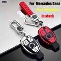 ZOBIG TPU + PC Autosleutel Case Cover Sleutelhouder Chain Ring Voor Mercedes Benz W203 W210 W211 W124 W202 w204 AMG