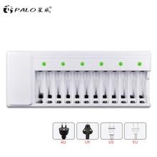 цена на PALO 12 slots  AA battery charger for NI-MH NI-CD 1.2V AA/AAA rechargeable battery LED display smart battery charger