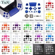 YuXi Silikon Gummi Leitfähigen Taste & Volle Set Joysticks Dpad R1 L1 R2 L2 Richtung Key ABXY Tasten Für Sony PS5 Controller