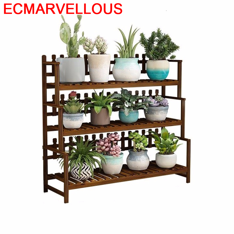 Ladder Shelf Indoor Estante Para Plantas Balkon Wooden Shelves For Rack Dekoration Outdoor Flower Stojak Na Kwiaty Plant Stand