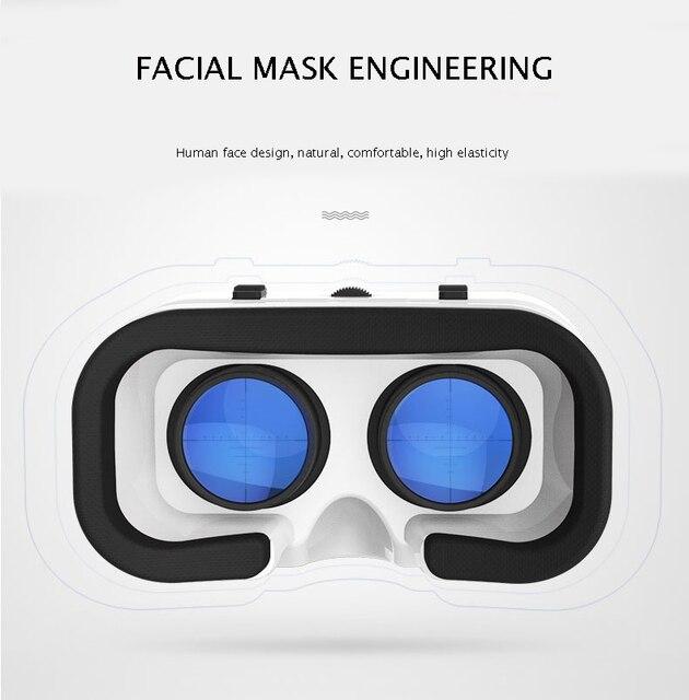 VR SHINECON BOX 5 Mini VR Glasses 3D Glasses Virtual Reality Glasses VR Headset For Google cardboard Smartp 3