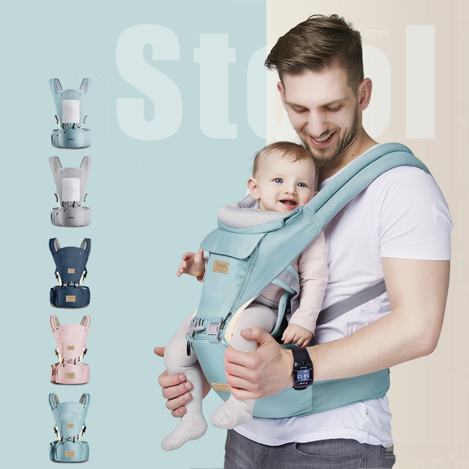 2in1 Ergonomic Kangaroo Baby Carrier Infant Waist Tools Carrier Front Facing Baby Hipseat For Baby Travel 0-36M