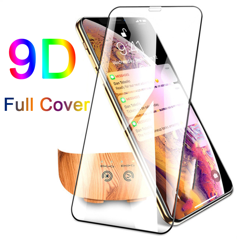 New 9D Curved Cover Tempered Glass On The For IPhone X XR XS Max Screen Protector For IPhone 8 7 6 6s Plus Glass Protection Film