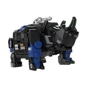 Image 5 - XIAOMI MIJIA 52TOYS Beast Series Plan  Blue armor special police model Toy action figure Deform Robot 5cm Cube Childrens Gift