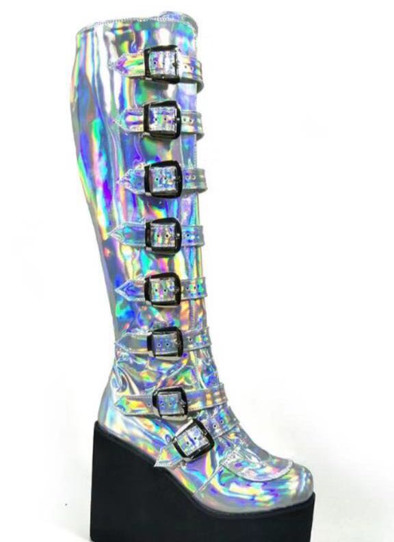 Colorful-High-Platform-Knee-High-Boots-Lolita-Cosplay-Show-Buckle-Strape-Lace-up-Thigh-Boots-Custom-Exclusive-3