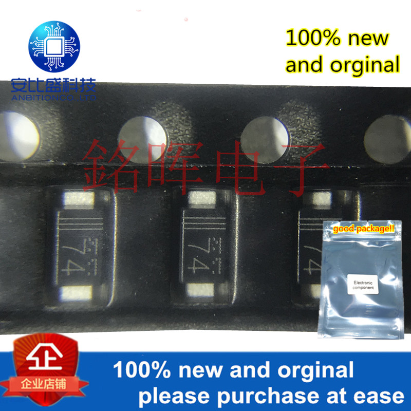 10pcs 100% New And Orginal RB160M-40 Silk-screen 74 SOD123 40V 1A Schottky Barrier Diode In Stock