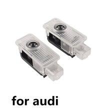2 uds Led Luz de logotipo de puerta de coche proyector de láser de cortesía para audi q3 q5 sq5 q7 a1 a3 a4 a5 a6 a7 a8 tt rs sline Quattro Accesorios