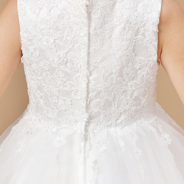 Ball Gown White Flower Girls Dress 5