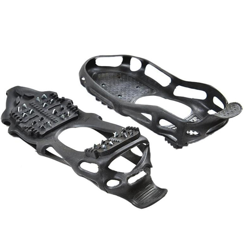 24 Tooth Ice Gripper Spike For Shoes Outdoor Anti Slip Climbing Snow Spikes Crampons Cleats Chain Claws Grips Boots Cover(Xl)