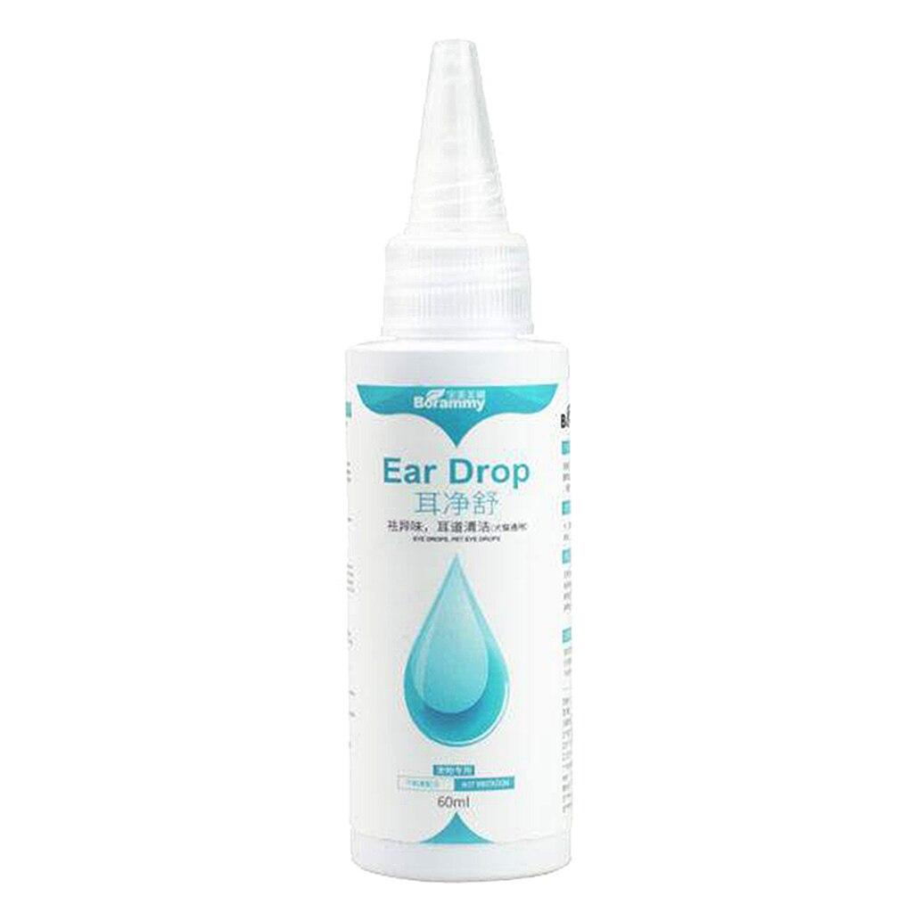 Ear Mite Cleanser Wax Softner for Dog & Cat  Pet Ear Drops Ear Cleaner 60ml