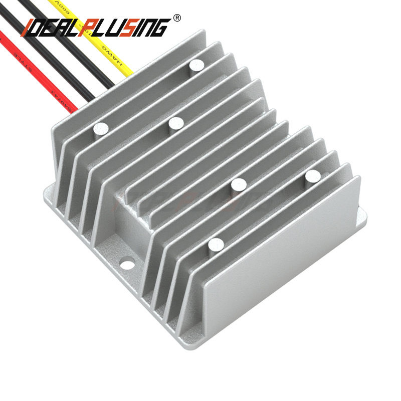 Convertidor CC a CC reductor convertidor elevador convertidor impermeable para coche 24 V a 12 V 10A 15A 20A