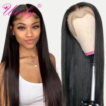 UEENLY 13 #215 4 13 #215 6 koronki przodu włosów ludzkich peruk brazylijski proste włosy ludzkie peruki 360 koronki Frontal peruka wstępnie oskubane z dzieckiem włosy tanie i dobre opinie Długi Koronki przodu peruk 360 Koronki Przednie Peruki Remy włosy Ludzki włos Pół maszyny wykonane i pół ręcznie wiązanej
