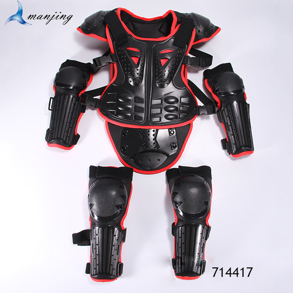 4 Kids Childrens Body Armour Motocross Motorbike Motorcyle Protection Jacket Motorcycle Body Guard CE Approved Chest Spine Elbow Shoulder Protection