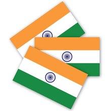 인도 깃발 범퍼 스티커 3 세트, 내구성 방수 소재, 오토바이 헬멧 트렁크 스티커, 자동 장식으로 만든