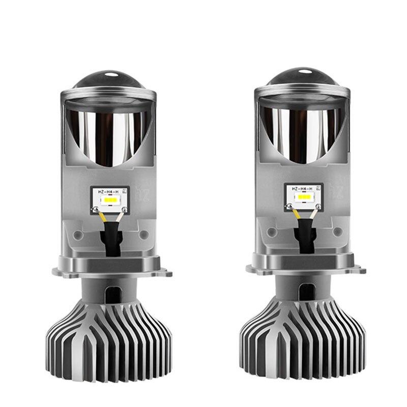 GZKAFOLEE 72W/Pair Lamp H4 LED Mini Projector Lens Automobles LED Bulb LED Conversion Kit Hi/Lo Beam Headlight 12V/24V 6000K