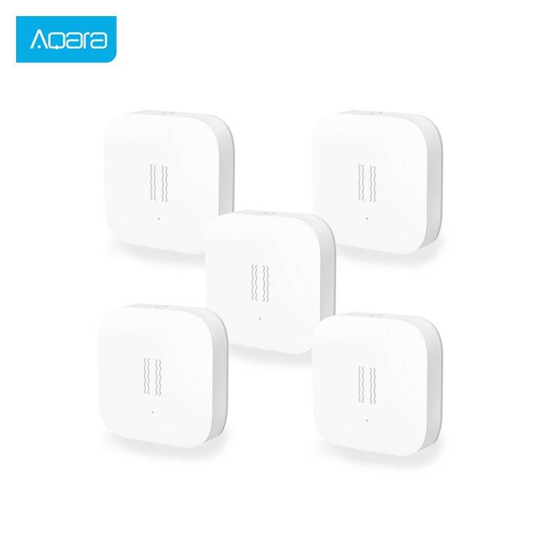5 PCS Aqara Vibration Sensor And Sleep Sensor Valuables Alarm Monitoring Vibration Shock Built In Gyro For Xiaomi Mi Home App