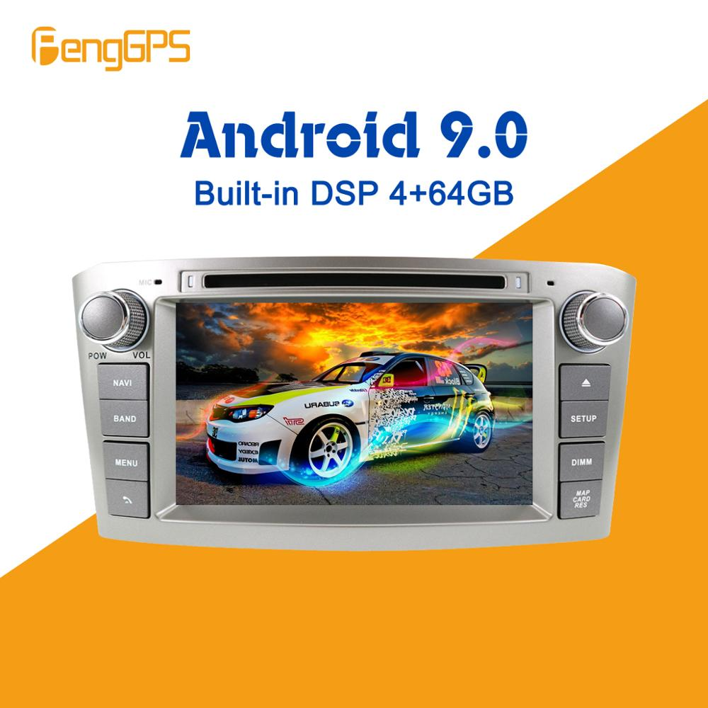 <font><b>Android</b></font> 9.0 PX5 4+64GB car DVD player Built-in DSP Car multimedia Radio For <font><b>Toyota</b></font> Avensis <font><b>T25</b></font> 2003-2008 GPS Navigation image