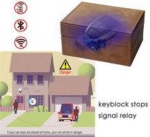 Faradaya pudełko centralny zamek z blokująca sygnał samochodowy pudełko całkowity sygnał blokowanie dla inteligentne klucze RFID blokada sygnału etui w stylu Retro