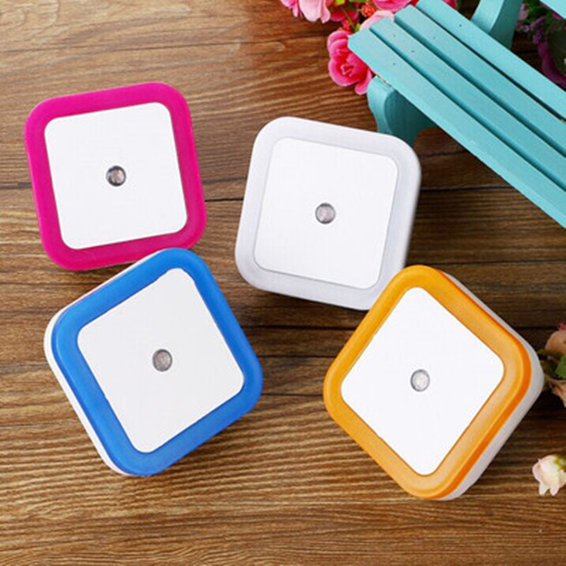 1pcs LED Night Light Wireless Sensor EU US Plug Square Night Lights For Baby Room Bedroom Corridor Lamp