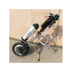 Image 4 - 48v 500w Sports Model Wheelchair Electric Handcycle Folding Wheelchair Attachment Hand Cycle Bike WheelChair Conversion Kits