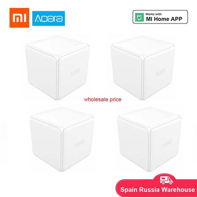 Xiaomi Aqara Cube Controller Zigbee Version Controlled By Six Actions Works With Xiaomi Mijia Gateway For Smart Home Kits White