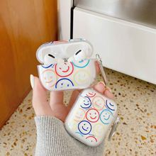 Smiley – coque en silicone souple et transparente pour écouteurs Apple airpods 2/1 pro 3