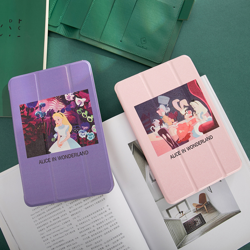 Cartoon Alice Flip Cover Case For IPad Pro 9.7 Air 10.5 11 12.9 10.2 Mini 2 3 4 5 2019 Tablet Case For New Ipad 9.7 2017 2018