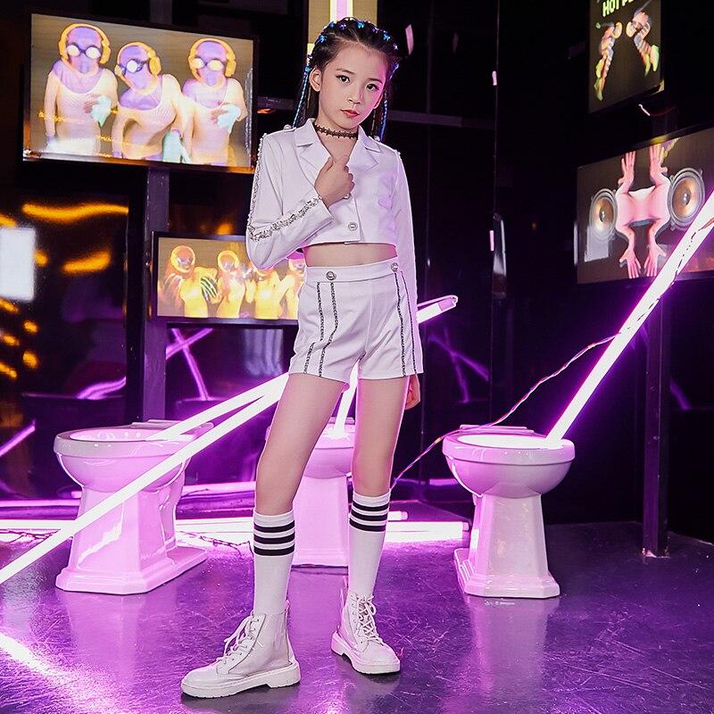 Girls Fashion Hip-hop Street Dance Personality Clothing Children Jazz Dance Costumes Dance  Costumes Kids
