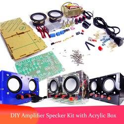 DIY TDA2030 Mini Amplifier Two Channel Speaker Audio Kit Mini Electronic YD-2030 Assembly 220V AC 3W Power Active audio Speaker