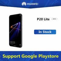 HuaWei-teléfono inteligente P20 Lite ANE-LX1, versión Global, Android 8,0, pantalla FHD de 5,85 pulgadas, 4GB RAM, 64GB ROM, cámara de 24.0MP, reconocimiento de huella dactilar, identificación facial, NFC