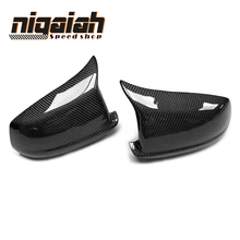 цена на F10 Carbon Fiber Rear View Mirror Covers Side Wing Mirror Caps Fit For BMW 5 series F10 2011-2013