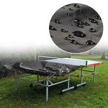 Прочный стол теннис пинг-понг Водонепроницаемый защитный открытый сад покрытие лист, черный