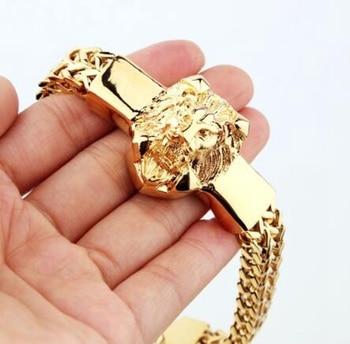 Мужские браслеты с головой льва