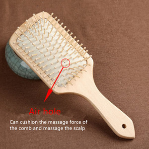 Image 3 - 1 Comb Hair Care Brush Massage Wooden Cushion Massage Comb Antistatic Spa Bamboo Airbag Hair Comb Head Promote Blood Circulation