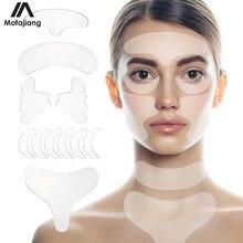 Juego de tiras de Lifting Facial reutilizables, pegatina de extracción de arrugas de silicona, eliminador de línea de cuello y frente, parches de ojos, almohadillas para la piel antienvejecimiento